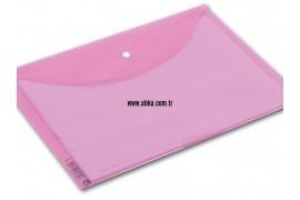 A4 Renkli Çıtçıt Dosya Pembe